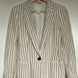 H&M Striped Boyfriend Blazer